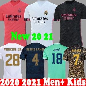 Tailândia 20 camisas de futebol 21 PERIGO Real Madrid 2020 2021 Camiseta crianças RM Jovic Bale Rodrygo SERGIO RAMOS camisas do futebol da EA Kit 19 20 New