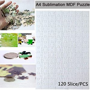 A4 Blank Sublimation Jigsaw Puzzle with 120 Slice DIY Heat Press Transfer Crafts A4 Thermal Transfer Puzzle For print picture