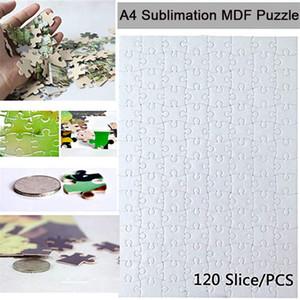 Baskı resmi için 120 Dilim DIY Isı Basın Transferi El A4 Termal Transfer Puzzle A4 Blank Sublime Puzzle