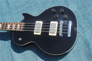 Free shipping 2020 new LP black four-string electric bass Electric Guitar ,Provide customization