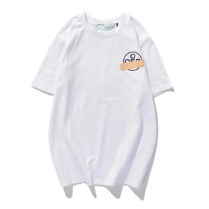 2020SS 새로운 개인 인 기하학적 화살표 팔이 커플 인쇄면 짧은 소매 티셔츠를 스트라이프 붕대 loose80G61UQY