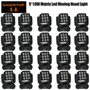 Gigertop 20 Пакет 9x10W RGBW Led Moving Head Light Матрица Ultimted Вращение 3x3 Matrix Pixel Led Control 25 градусов луча эффект ЖК-дисплей