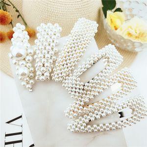 style coréen clip en épingle à cheveux perle douce décoration cheveux perles imitation Pour l'ensemble des femmes à la main fleur bâton Barrette Accessoires pour cheveux