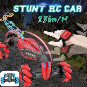 Stunt Gesture Remote Control twisted 4WD High Speed RC Car 2.4GHz Radio Control Twist-Desert Stunt Cars Off Road Racing CAR MX200414