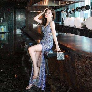 Elegante vestido de noite Memraid Lantejoula Formal Vestido de festa vestido de noite vestido longo elegante Robe De Soir E Rouge