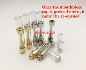 Oro redondo Dank Vapes cartucho de cerámica cápsulas de bobina Prensa G5 M6T TH105 TH205 510 aceite espeso atomizador Para Precalentar batería