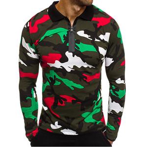 Камуфляжная футболка с длинным рукавом мужчины тактический отложной воротник Q Camo Clothing Plus Size XXL T shirt