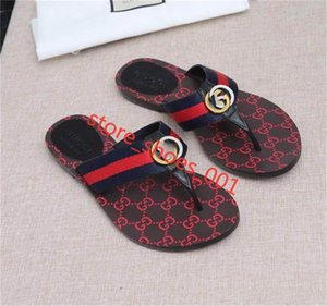 New luxe men and women xshfbcl Web strap thong sandal men's sandals fashion casual slippers top quality size 36-45