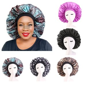 New Extra Large Satin Bonnet Women Silky Hair Styling Care Hat Lady Night Sleep Cap Fashion Head Wear Headwrap Hair Accessories