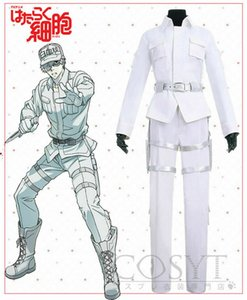 Anime Cells at work White Blood Cell Uniform Cosplay Costume Full Set