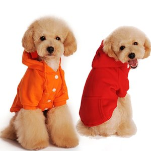Pet Dog Cat Pocket Sweatshirt Autumn Winter Warm Teddy Fleece Sweater Chihuahua Hoodies with Pocket Puppy Sportswear Jacket