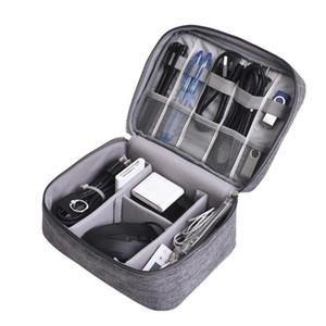 Bolsa de cable de datos de viaje Portátil, USB digital Gadget Organizador Cargadores Cables Cremallera cosmética Almacenamiento Paquetes a prueba de agua