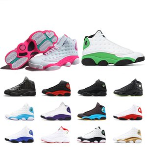 Lucky green CNY Flint 13s Men Women Basketball Shoes 13 Aurora Green Playground Reverse He Got Game Mens Trainers Sports Sneakers