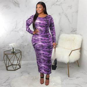 Tiger Stripes Digital Print Womens Robes Casual Mode Tous Imprimer Femmes Robes Designer Femmes Vêtements décontractés