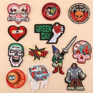 30 pezzi spedizione gratuita Iron On Patches Occhi, amore, teschio, lettera, punk, vento, accessori di abbigliamento, adesivi patch