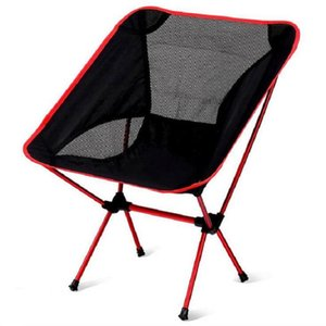 Super-leve respirável Encosto Folding Chair portátil Praia Sunbath Picnic Barbecue Camping Pesca Stool carga Bearing 150 kg frete grátis