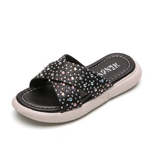 Frauen Hausschuhe für Mädchen Strass Schuhe Kinder Shinning Princess Glitter Barefoot Fashion Hotel-Schuh Spa Mutter-Tochter-Set