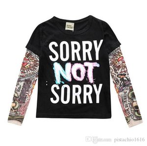 INS children's clothing 2019 autumn new children's clothing t-shirt foreign trade long-sleeved stitching tattoo t-shirt explosion