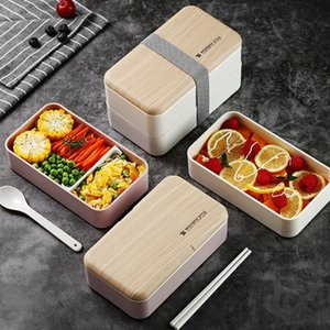 Çatal Bölme Lunch Box Çift yemek kutusu