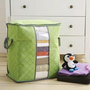 أكياس تخزين الملابس لحاف سميكة غير المنسوجة المحمولة خزانة المنظم توفير مساحة الطي مكافحة الغبار الحقيبة مربع لل بطانية وسادة الفراش