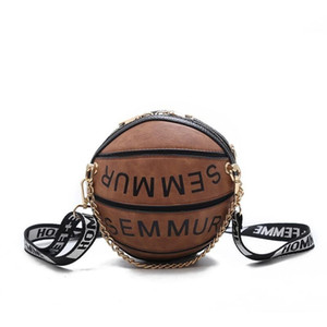 Forma do basquetebol Bolsas Bandoleira For Women 2019 Bolsas Meninas Bolsa e bolsas Chains Tote para mulheres