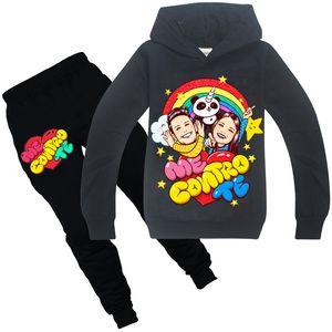 ME CONTRO TE Clothing Sets Spring and Autumn 6-14t Kids Hoodies + Pants 2 Piece Sets 120-160cm kids designer clothes girls Wholesale BSS385