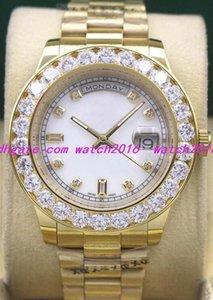 13 Estilos Relojes de lujo 41mm 18K Oro amarillo Más grande Diamante Dial Bisel 118348 Reloj Automático Moda Reloj para hombre Reloj de pulsera