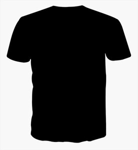 Taille européenne Big Taille 3DT shirt à manches courtes Fat drôle d'art créatif Figure T Génération gros Style Explosion rond T-shirt col