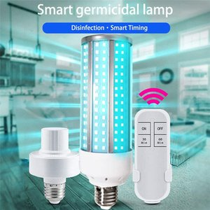 AC85-265V del bulbo 60W 30W E27 portátil esterilizador UV-C de luz UV germicida de la lámpara Inicio Desinfección de maíz de luz con tiempo de control remoto