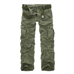 QNPQYX neue Art und Weise Cargohose Männer lose Baggy Tactical Hose Oustdoor beiläufige Baumwollhose Männer Multi Taschen