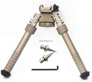 V8-Gewehr Bipods kann um 360 Grad kippbar, M-LOK Bipod 6,5-10 Zoll Picatinny Schiene Folding Stativ Verstellbare Schienenklemm