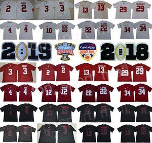 Futbol Koleji 2019 Alabama Crimson Tide Tua Tagovailoa Forması Jerry Jeudy Damien Najee Harris Jalen Acı Şeker Turuncu Kase