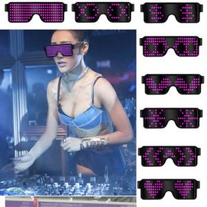 8 режимов быстрая вспышка USB Led Party USB charge Светящиеся очки свечение солнцезащитные очки Рождественский концерт Свет игрушки рождественские украшения