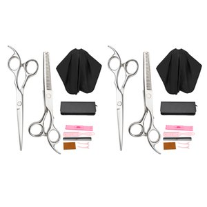 2x Hair Cutting Scissor Set Hairdressing Cape Combs Kit For Salon 6 Inch