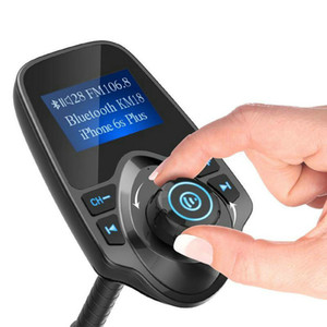 """T10 Auto-drahtlose MP3-Player Bluetooth FM Transmitter Freisprechfunktion Car Charger Kit mit TF-Slot 1,44"""" LCD-Display"""