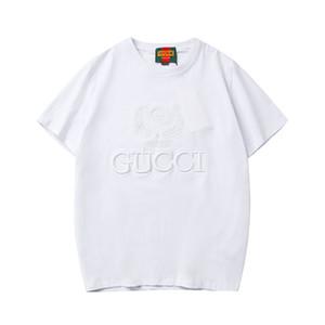 2019 Erkek tasarımcı Gömlek Yaz gündelik marka tişörtleri Kısa Kollu lüks Erkek Üst Tees Moda Streetwear Erkek Giyim B100350K