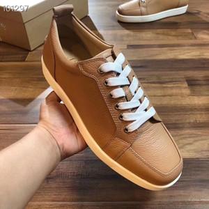 Famosas marcas Rantulow Pisos top del punto bajo inferior rojo de la zapatilla de deporte para hombres, mujeres monopatín los únicos zapatos rojos del partido barato Trainer Dress EU35-47