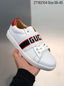 Gucci shoes moda sapatos de couro de luxo branca do desenhador Sapatas autênticas couro Amarrado dança treinador calçado desportivo masculina condução sapato mulher plana