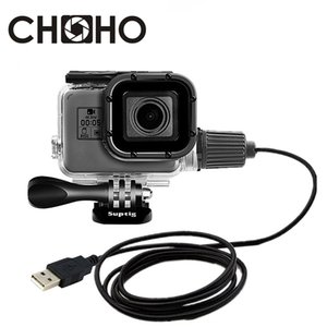 Waterproof Case Housing Diving 30M motorcycle Charging cable Protect Shell For Gopro Hero 5 6 7 Black New go pro Accessories
