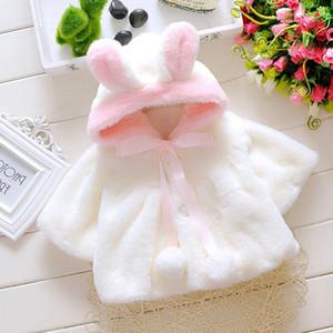 Brasão Outono e Inverno Novas Childrens Vestuário Meninas clássico coelho camisola xale Factory Outlet