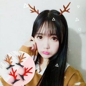 Clip di Natale corno di cervo per capelli fascia delle ragazze dei bambini Antlers forcine copricapo accessori dei capelli per ornamenti di Natale regalo