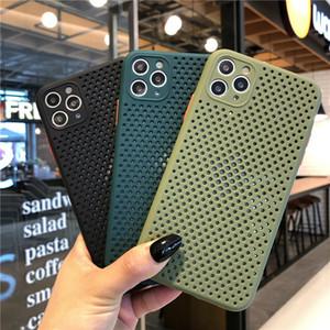 Сверхтонкий Мягкая Тепловыделение Hollow Оригинальный силиконовый чехол для телефона iPhone 11 Pro Max XR XS 7 8 Plus X 6 6S SE 2020 Случаи