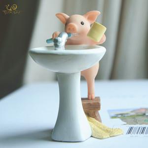 ome Garden Coleção diária porco bonito casa acessórios de decoração de fadas jardim em miniatura animais estatuetas de desktop carro aniversário decoração ...