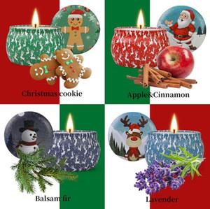 Weihnachten Duftkerzen Dekoration Weihnachtsmann Schneemann Kegel Kerzen Smokeless Aroma Startseite Hochzeit Weihnachtskerze 1Set = 1Box = 4Pcs
