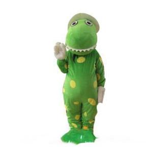 Atacado-New Dorothy the Dinosaur Mascot Costume Cartoon Terno Fancy Dress Party Outfits Suit Frete Grátis