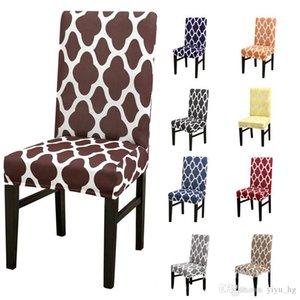 Disegno geometrico Sedia elastico Copertine 11color casa Dining Chair Seat Cover rimovibile Spandex Seat Cover hotel banchetto copertura della sedia