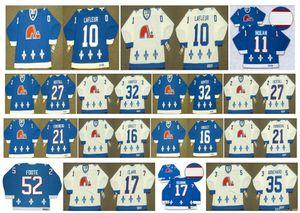 Vintage Quebec Nordiques Jersey 10 Guy Lafleur 32 DALE HUNTER 27 RON Hextall 16 GOULET 52 FOOTE 17 Wendel Clark 35 DAN BOUCHARD Hockey Retro