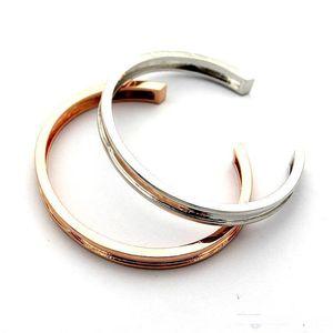 High Classic 316L titanium steel B letter C-shaped opening couple bracelets 18K gold ladies love bracelet jewelry wholesale Free Shipping