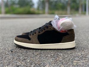 الجملة منخفضة الجديدة 1 I OG البني من جلد الغزال الأبيض MEN أحذية كرة السلة 1S حذاء الرياضة في الهواء الطلق المدربين SIZE 36-47