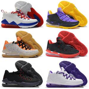 (ليبرون 17) ذو الجودة العالية أحذية كرة سلة رياضية منخفضة لـ (مينز) الرخام الأرجواني الأسود والأبيض 17 حذاء رياضي 40-46